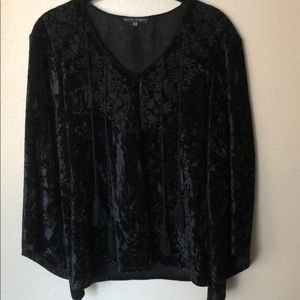 Tops - Bell Sleeve Velvet Top
